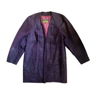 Vintage 80s Danier purple leather jacket coat